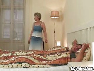 porn videos Nasty granny gives head and rides her bf cock