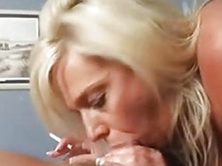She won't let any cock come in between her and her smoke