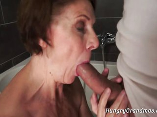 Grandma Sucks Big Dick and Gets Banged