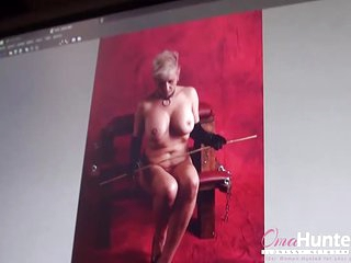 OmaHunteR Granny Hardcore Lesbian Strapon