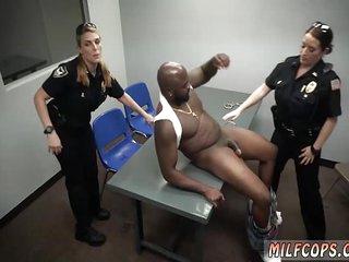 Amateur mature interracial threesome xxx Milf Cops