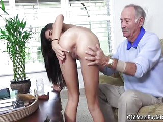 Old mature granny and man fucks young shy girl first time