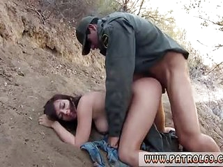 Mature brunette mom Mexican border patrol agent has his