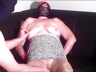 First BDSM  training granny Linda 55
