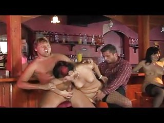 A hot mature milf sex party gone wild at a bar with hot babes baring all to see