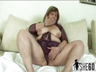 Young stud fucks lusty chubby granny