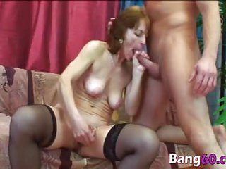 A cock hungry granny enjoys pussy fuck