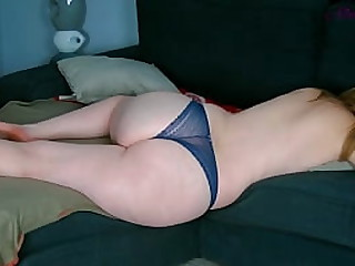 Step mom on the sofa gets her huge ass fucked by her step son!