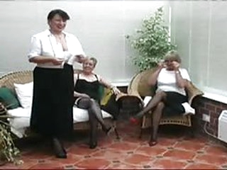 sex Vintage Stripping from three Mature Village Ladies