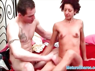 Mature redhead gets fucked by young cock