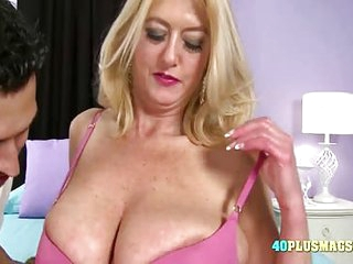 Busty Mature Blonde Is Hungry
