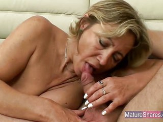 Busty Mature Blonde Fucked Hard With A Young Hard Cock