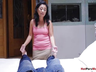 Asian mature stepmom helps me to forget my exgirlfriend