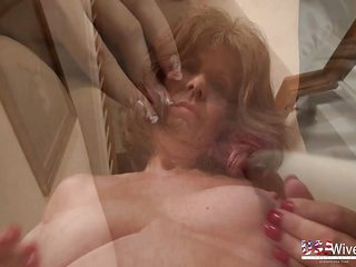 Compilation of horny mature ladies masturbation