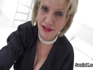 Unfaithful british mature lady sonia pops out he