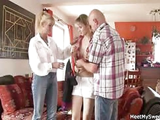 porn movies She rides her BF's dad cock and mom helps