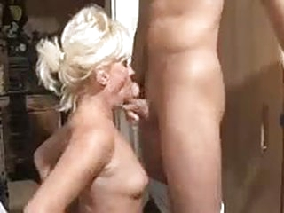 Horny grandma can barely stand being fucked very hard by a horny young stud