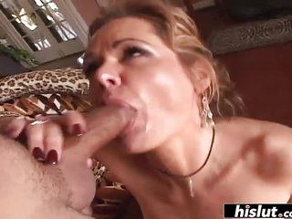 Mature lady fucks like a beast